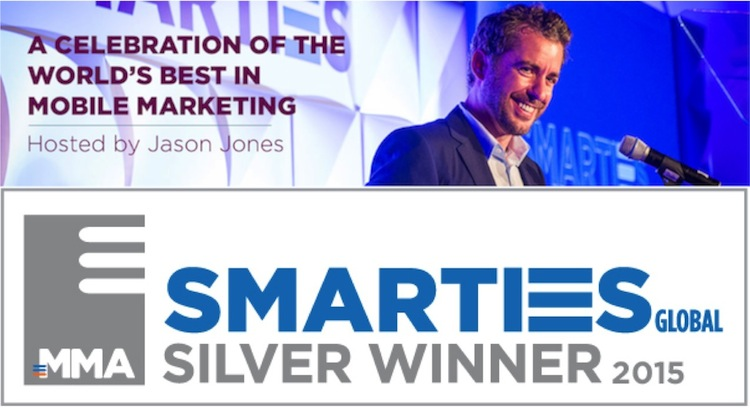 Mobile Marketing Association MMA Global Smarties Awards Winner 2015 Marketing Solutions for a Mobile-First World