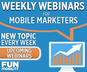 weekly webinars mobile coupons