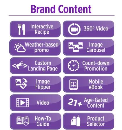 Digital Experiences Nanosites brand content
